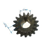 Pinion conic Z17